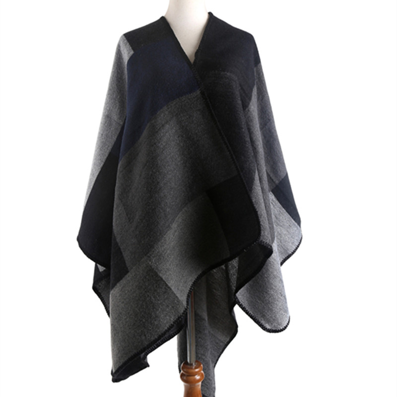 Brand Diamond Plaid Scarf Shawl Cachecol Pashminas for Women Infinity Cashmere Scarf Ponchos and Capes Wraps Tippet Cloak