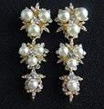 Nueva Moda de Lujo Exagerado Pendientes de Perlas Para Las Mujeres Joyería