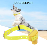 BORUiT Waterproof Hunting Dog Beeper Collars Rechargeable Dog Training Collar Built in Buzzer and Battery Yellow Color D 100