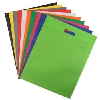 30x40cm New Reusable Shopping Bag Non-Woven Fabric Bags Folding Shopping Bag For promotion/Gift/shoes/Chrismas Grocery Bags Shop Shopping Bags
