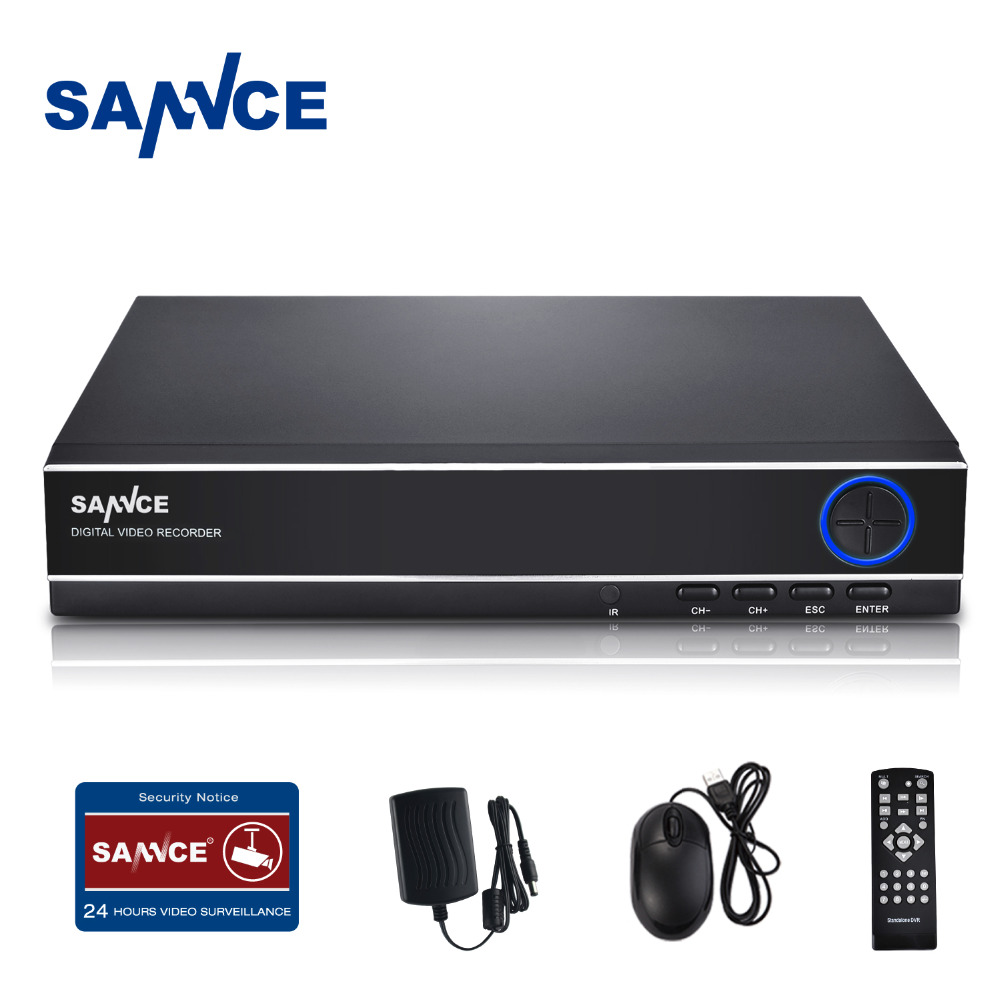 ФОТО SANNCE 4CH 720P Security Standalone DVR H.264 Realtime HDMI Output, Quick QR Code Scan and Easy Remote View for CCTV system