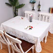 PVC Waterproof Tablecloth Transparent Tablecloth with pattern Kitchen Table Cover Oil Cloth Soft floral print Tablecloth 137x180 tropical print tablecloth