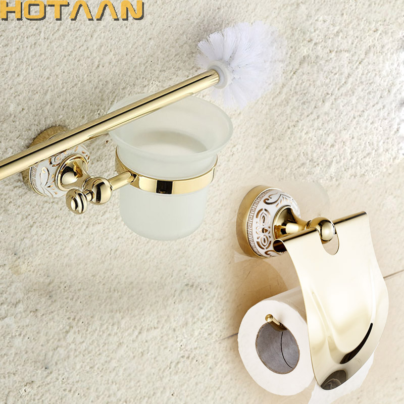 Bathroom Accessories Gold popular gold bathroom accessories sets-buy cheap gold bathroom