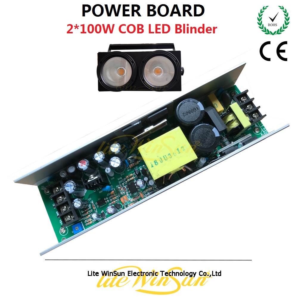 Litewinsune 1PC Free Ship Power Supply Board for 2x100W COB LED Blinder Audience Stage Lighting  blinder led cob 4x100w led blinder light 400w dmx512 2 channels cold warm white blinder stage effect lighting dj party led lamp