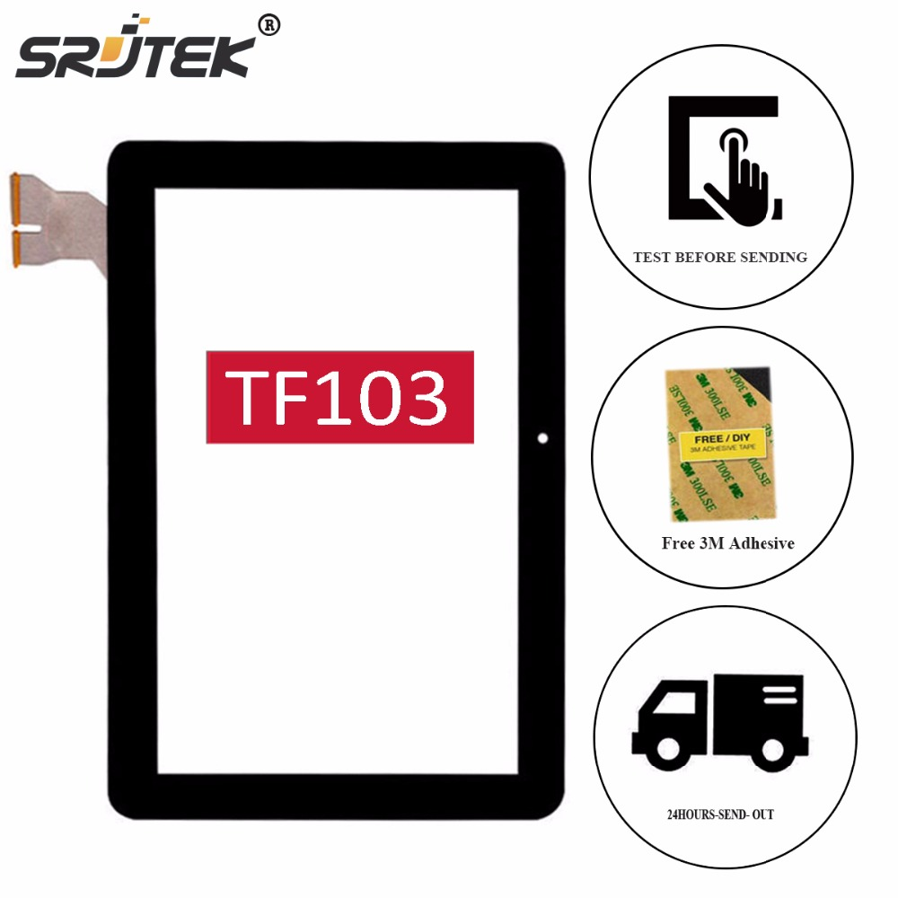 Srjtek 10.1 For ASUS Transformer Pad TF103 TF103C TF103CG K018 Touch Screen Digitizer Glass Panel Sensor Tablet Replacement new for asus eee pad transformer prime tf201 version 1 0 touch screen glass digitizer panel tools