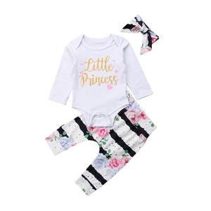 CANIS Pant Bebe Outfit Bodysuit Floral-Print Newborn Infant Baby-Boy-Girl Autumn Cotton