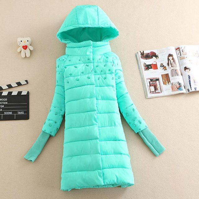 Mulheres jaqueta de inverno 2016 inverno diamante algodão-acolchoado casaco de inverno mulheres parka casaco de roupas casuais Plus Size Outwear