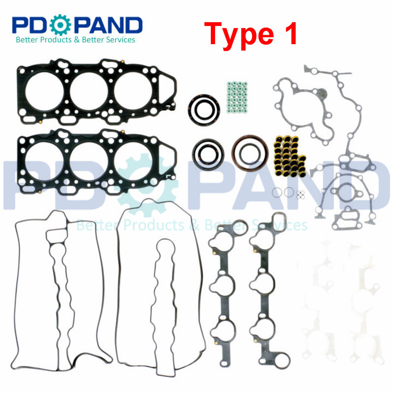 Engine Rebuilding Gasket Kit 8DHW-10-271 For Mazda LUCE III HC MPV I/LV 929 IV HD 3.0 V6 24V 2954cc