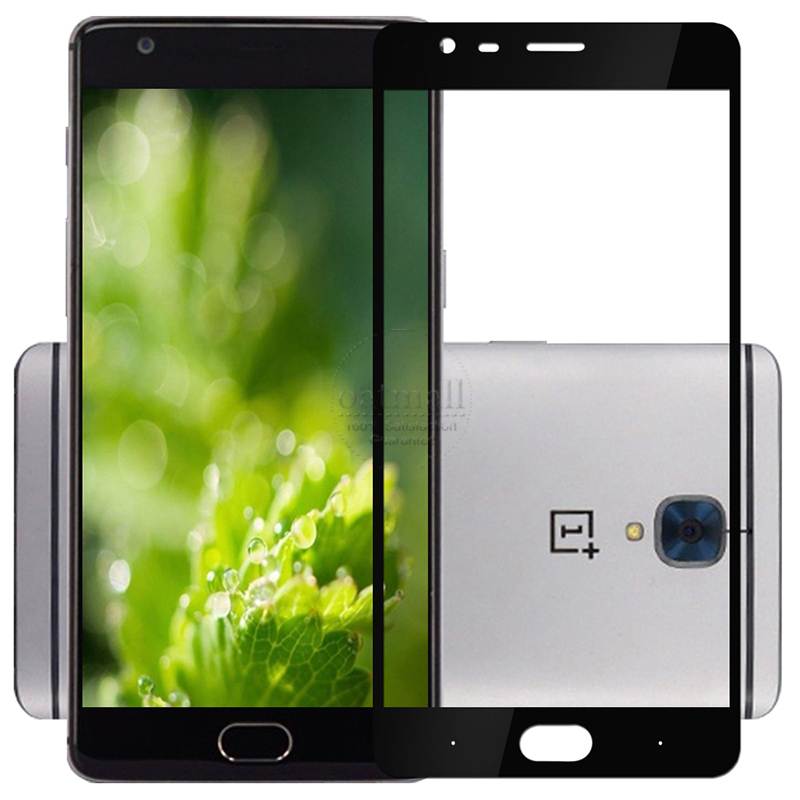 New 0.26mm Full Screen Protection Tempered Glass Film Oneplus three 3 3T Glass Screen Protector Cover On the One Plus 3 1+ 3 9H