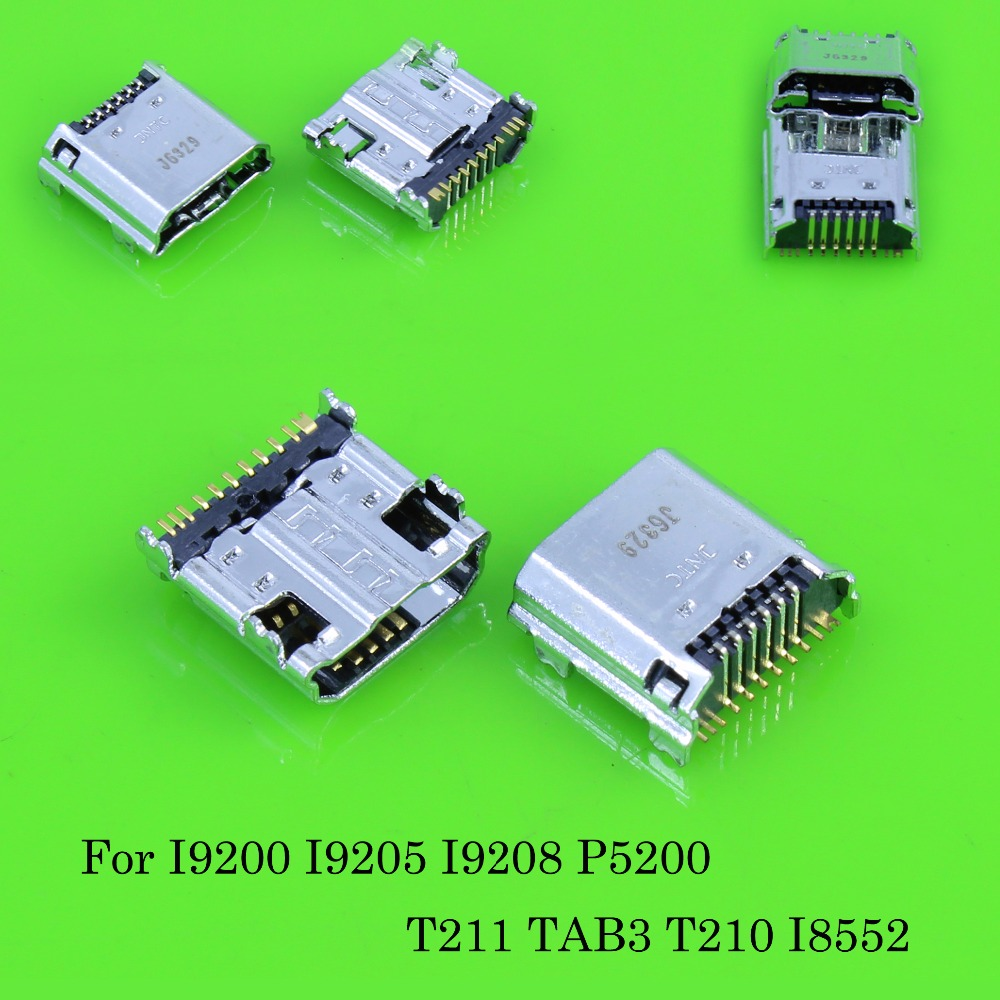 5-100 шт./лот Новый Micro USB разъем зарядки для Samsung Tab 3 7.0 i9200 i9205, P5200, p5210, T210, T211 T311 i9208 TAB3 ...