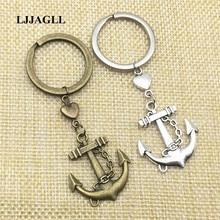 5pcs/lot Handmade Keychains Vintage Anchor Charm Metal Zinc Rudders Charms Compass Boat Key Chains Diy Jewelry Make AYSQ110