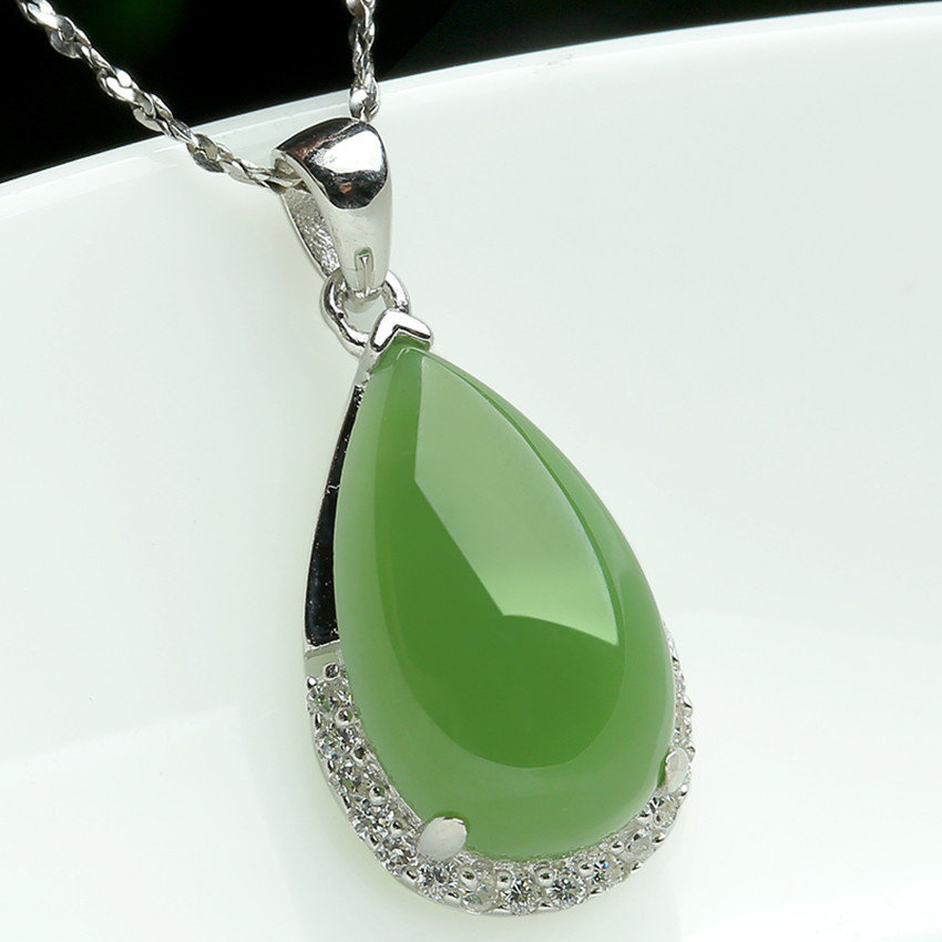 Natural hetian stone biolite with silver pendant belt certificate with gift box free delivery