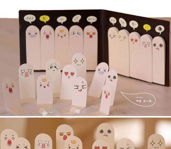 1X Cute 200 Pages Sticker Post It Bookmark Point It Marker Memo pads Flags Finger Sticky Notes sticker paper for free shipping