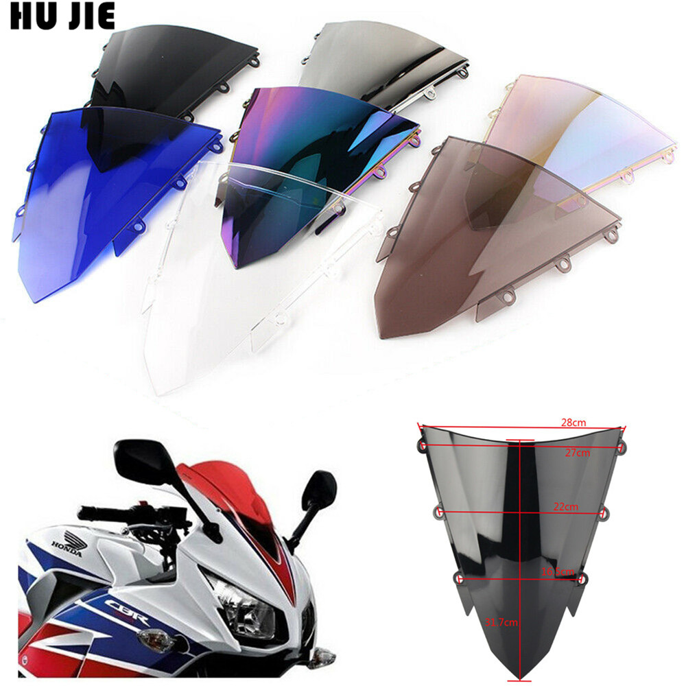 <font><b>CBR500R</b></font> 2017 <font><b>2018</b></font> Windshield Windscreen Double Bubble For Honda CBR 500R 2015 2016 2017 <font><b>2018</b></font> Motorcycle ABS Accessory image