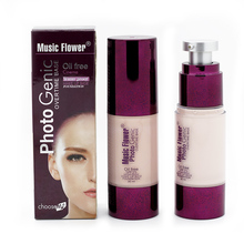 Brand Women Pro 6 Colors Nude Makeup Face Foundation Liquid Cover Concealer Moisturizing Facial Base Cream Form Music Flowers