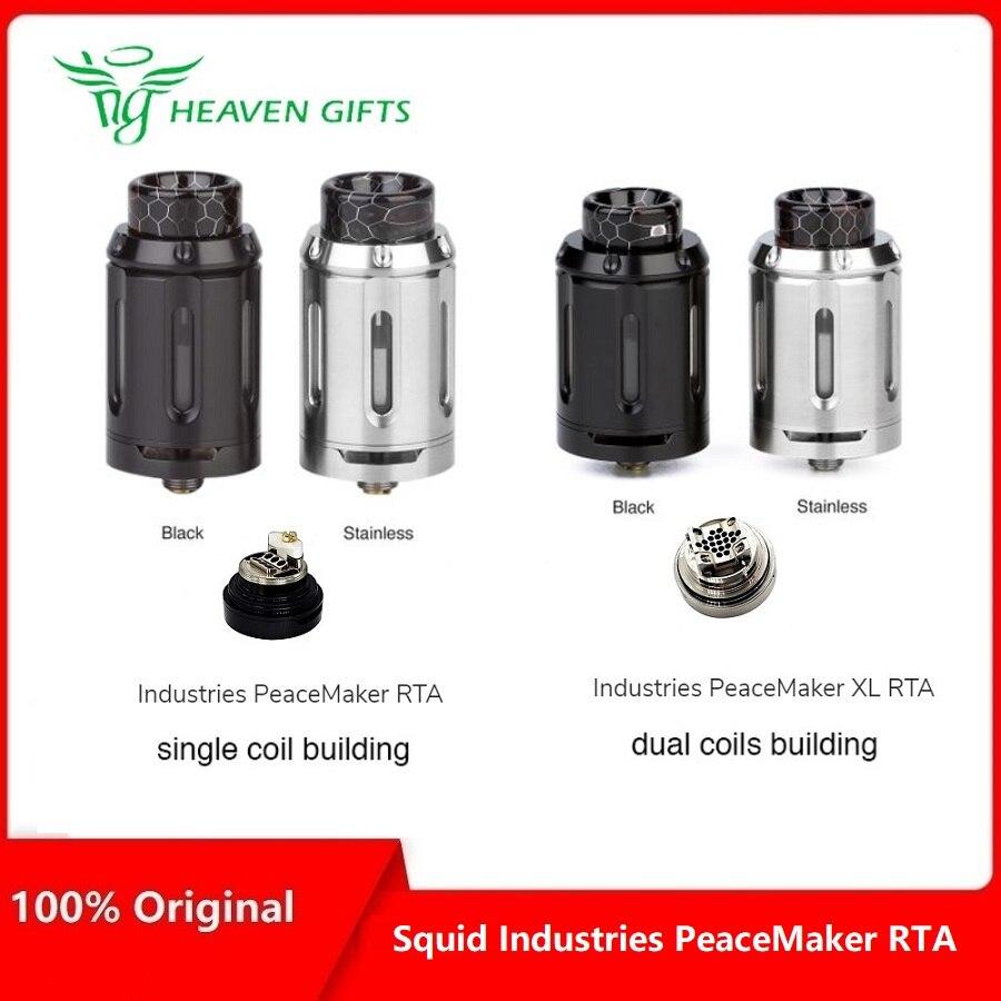 Articles lourds calmar Industries pacificateur RTA 4 ml & 25mm diamètre VS pacificateur XL RTA 5 ml & 28mm diamètre Vs Manta RTA/Zeus X