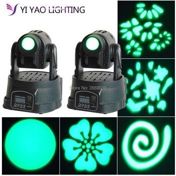 2 Pcs/lot LED Lampu Moving Head 15 W Gobo Pola RGB 3in1 DMX Lampu Moving Head