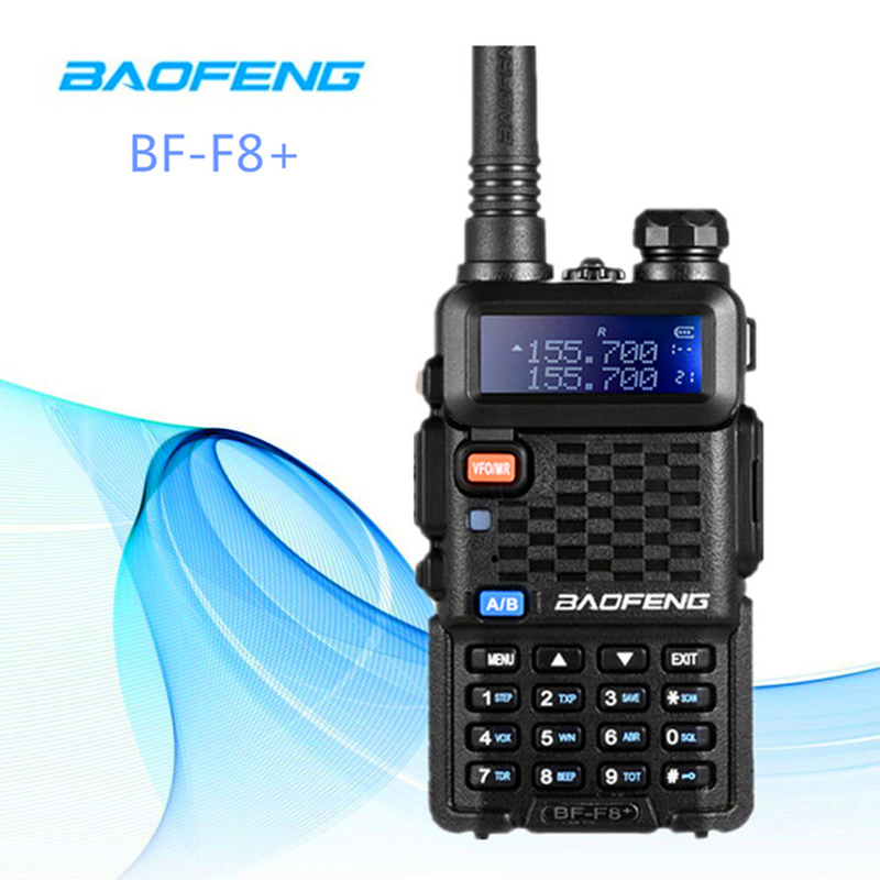 2 PCS Baofeng BF F8+ Walkie Talkie Dual Double Band Two Way Ham CB VHF UHF Radio Station Transceiver Boafeng Scanner PTT Handy-in Walkie Talkie from Cellphones & Telecommunications    1