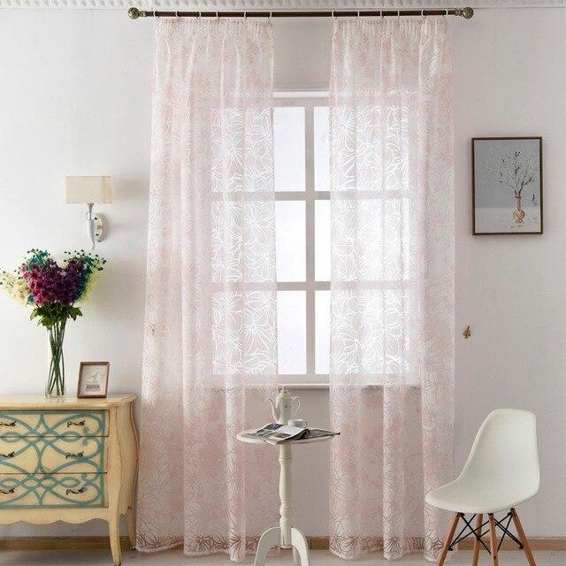 Sheer made bereit moderne tüll stoffe rosa mädchen vorhänge ...