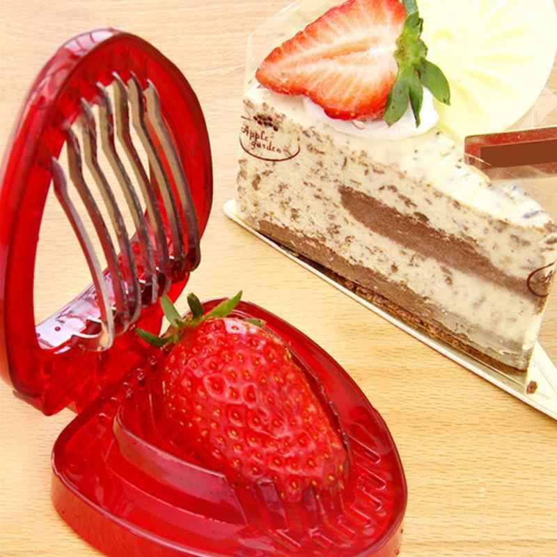 Клубника слайсер свежие ломтики лезвие из нержавеющей стали одеваются десерты торты пироги и гарнизы Кухня Ремесло