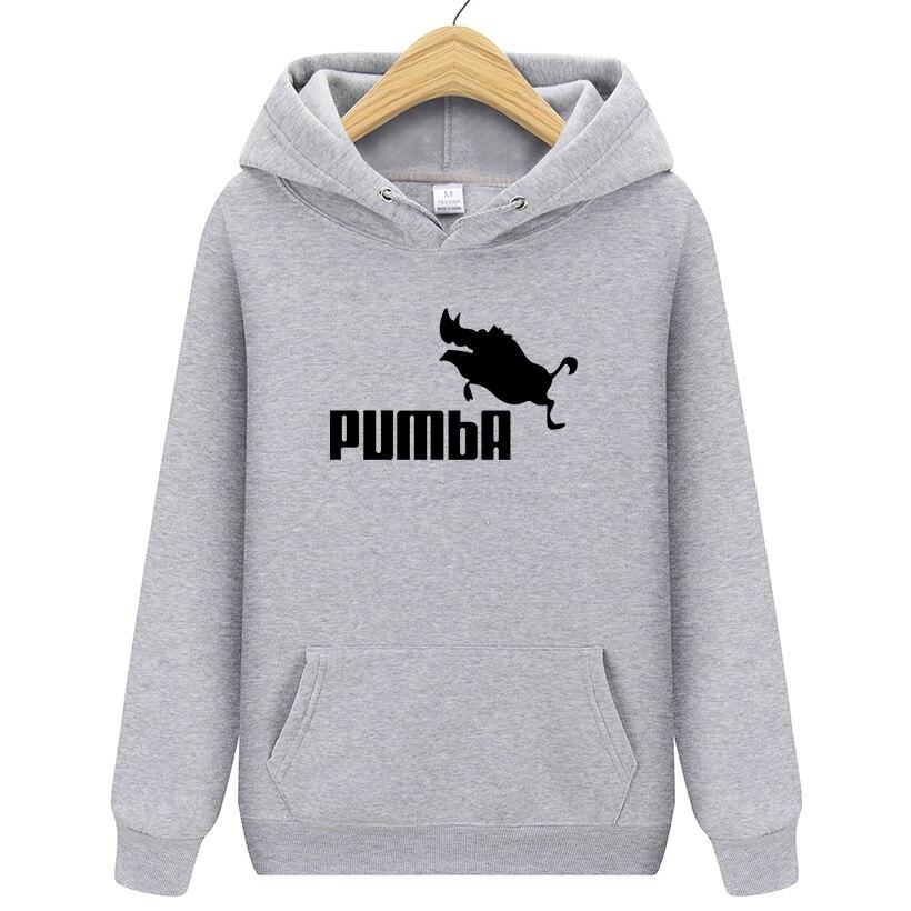 2019 Autumn New Arrival Pumba Black Hooded Sweatshirt With Hoodies Men Brand In Mens Hoodies And Sweatshirts Male Hooded