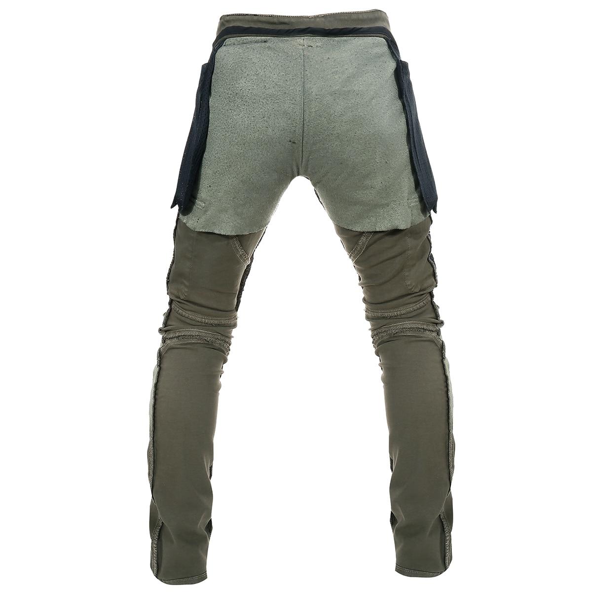 Men Women Motorcycle Riding Jeans Protective Pants Knight Hockey Biker Armor Pants XXL=36, Black