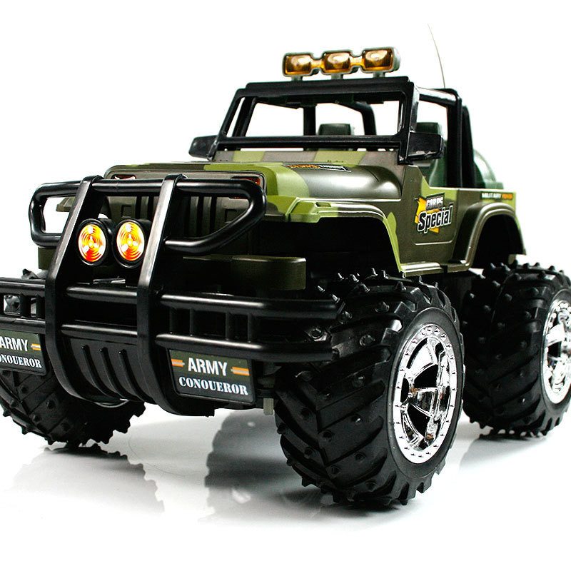 ФОТО 1:10 Ratio Models Remote Control Toy SUV Cars Model Children's Series Red Camouflage Remote Control Toy Car 1 piece