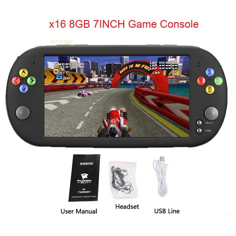 X16 8G Console Jeu jeu vidéo Console avec Double Rocker Pour GBA NES Jeux Soutien TF Avec 7