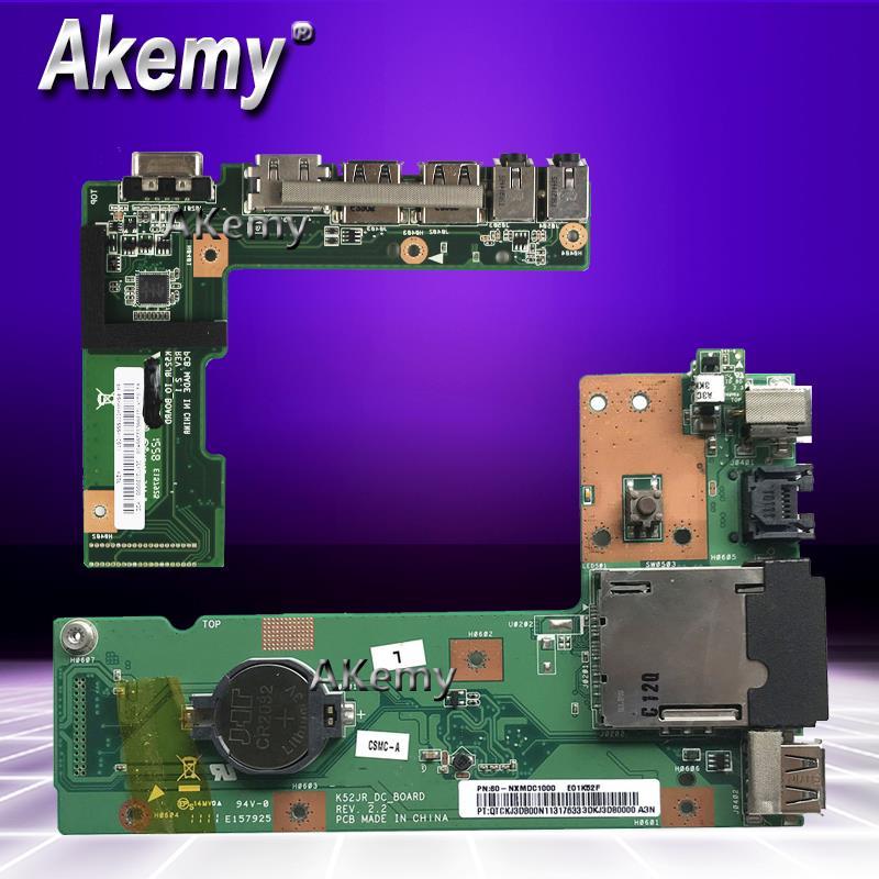 Akemy OriginFor ASUS K52 K52J K52JR K52JC K52DR X52F K52F X52J DC Power Jack Audio Board 60-NXMDC1000 100% Tested Fast Ship
