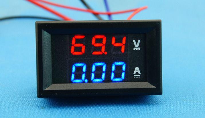 DC 100V//0-500A Ammeter Voltmeter Digital Amp Volt Meter 12V 24V CAR Battery