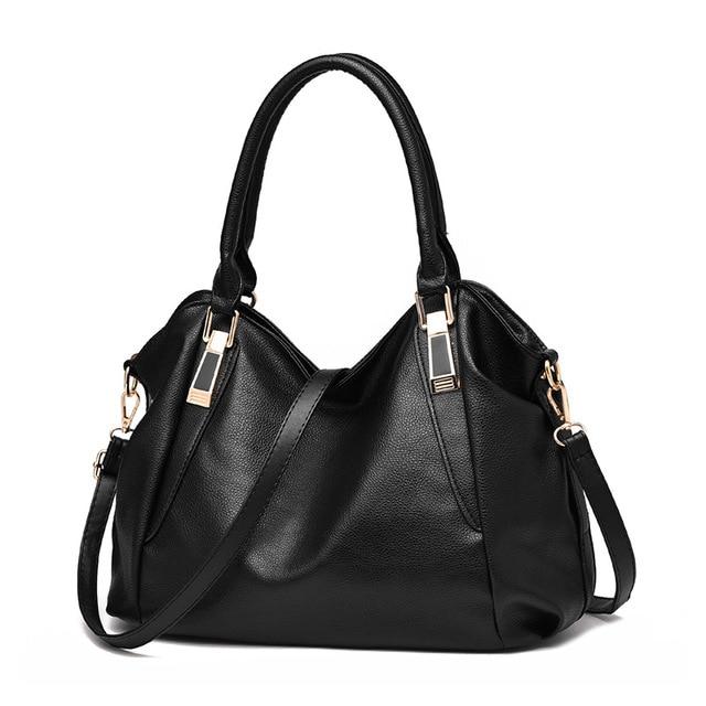 63653ee8e361 Fashion Designer Women Handbag Female PU Leather Bags Handbags Ladies  Portable Shoulder Bag Office Ladies Hobos