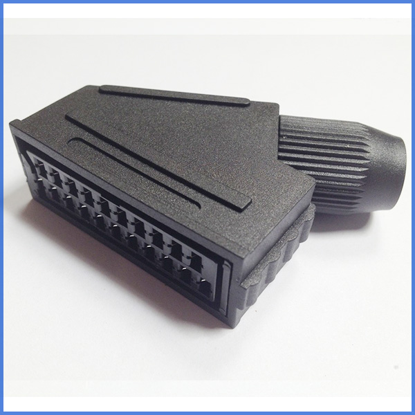 100pcs a lot Scart JP21 plug 21 pin female connector Connect Port Socket Interface Connector slot
