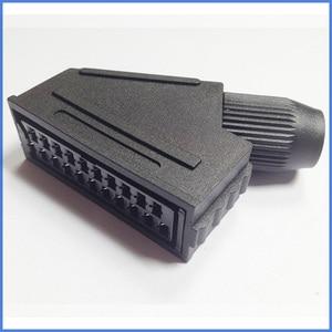 100 sztuk dużo Scart JP21 wtyczka 21 pinowe złącze żeńskie podłącz gniazdo portu złącze interfejsu gniazdo dla S-N-E-S kabel av