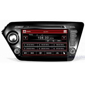 "8"" Capacitive touch screen in dash 2 din car dvd player gps navi tape recorder for kia RIO K2 7"" kia sportage(China)"