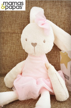 Cuddly Baby Plush Rabbit Bunny Toy In Red Skirt Stuffed Comforter Soft And Bashful,Good Playemate For Kids Gift