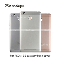 Back Cover For Xiaomi Redmi 3S Battery Cover Back   Housing   Full Back Cover Door Rear Case Replacement Repair   Mobile     Phone   Parts