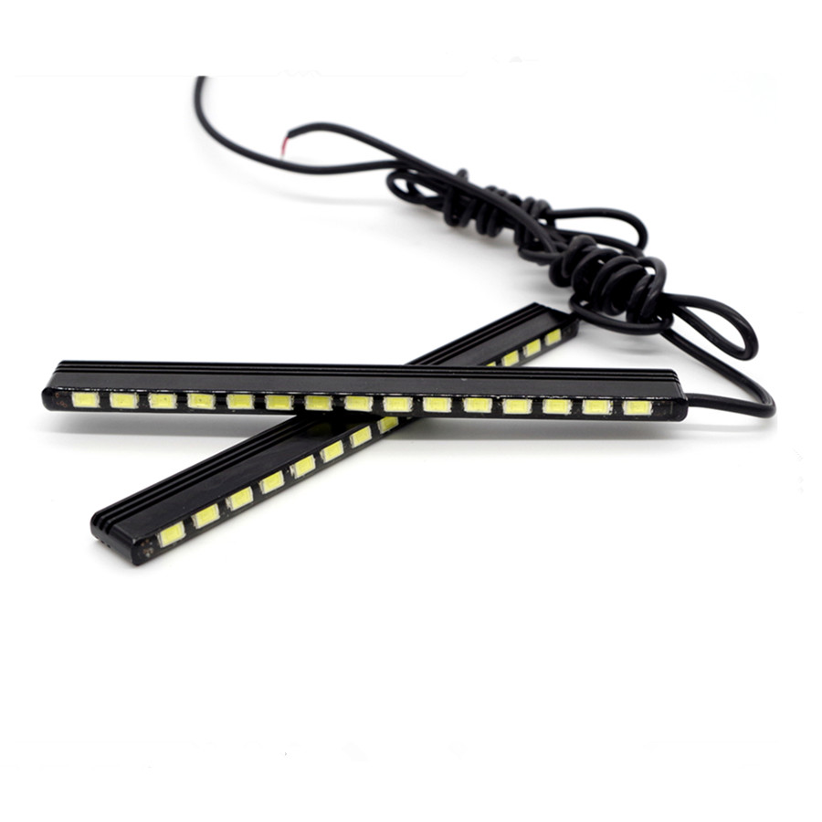 Free Shipping 2PCS/SET Daytime Running Lights Car Auto LED DRL 15SMD 5730 14.5CM Ultra White 100% Waterproof DRL High Power free shipping winter parkas men jacket new 2017 thick warm loose brand original male plus size m 5xl coats 80hfx