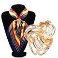 2016 New Arrival Rhinestone Garland Hoop Twine Brooch Silk Scarf Clip Buckle Holder Jewelry Gift