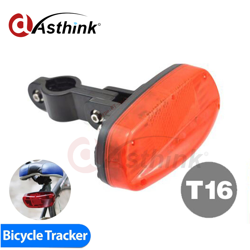 T16 GPS Tracker Bike Hidden Inside Bicycle Brake Lamp Motion Sensor Long Battery Life 120 Days FREE GPS Tracking System APP vjoycar 5000mah big battery portable gps tracker wifi data logger rechargeable removable battery motion sensor sos voice monitor