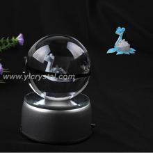 Pokemon Ball With Engraving Crystal Ball New Style Good Quality With Led base