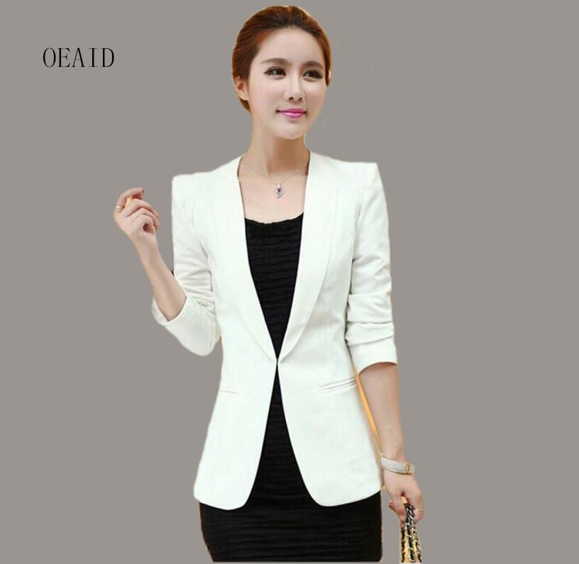Black Blazer Women Coat Spring 2017 New Female White -5538