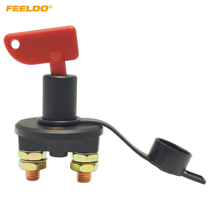 Feeldo 5set Auto Truck Boat Battery Isolator Disconnect Cut Off Power Kill Switch With Removable 2-key Dc12v/24v #hq5703 2019 New Fashion Style Online Cables, Adapters & Sockets Automobiles & Motorcycles