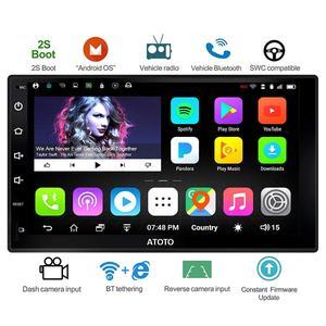 ATOTO A6 двойной din Android автомобильный gps-навигатор стерео плеер/2 x Bluetooth/A6Y2710S 1G/16G мультимедийное радио