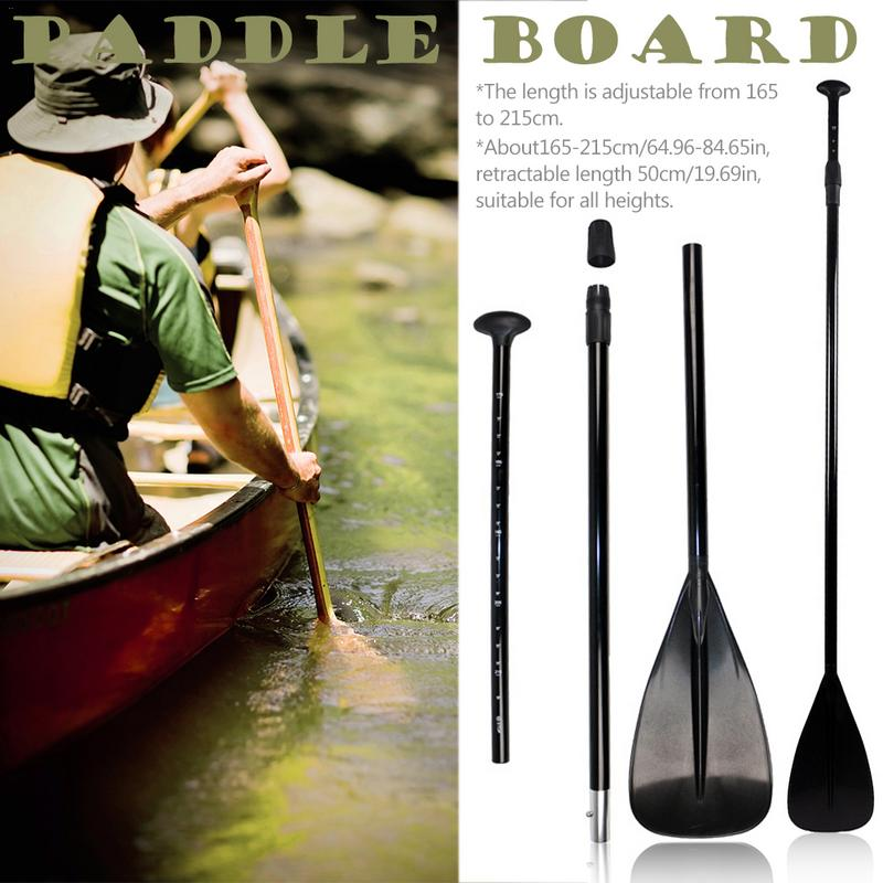 165 215cm Black Extendable Paddle Oar SUP Stand Up Paddle Board for Surfing Board Aluminium Inflatable Kayak Boat