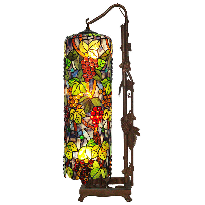 Modern Tiffany Table Lamp Colorful Standing Lights Glass ...