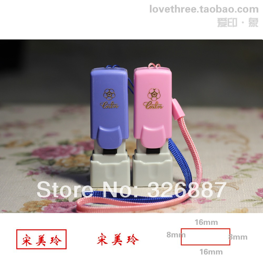 Фото Customized Photosensitive small stamp mark Colorful birthday name Word for DIY Scrapbooking/Card Wedding Decoration