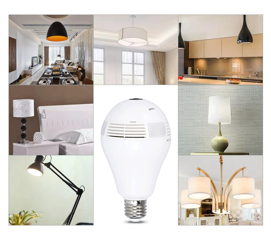 Bulb Light Wireless IP Camera