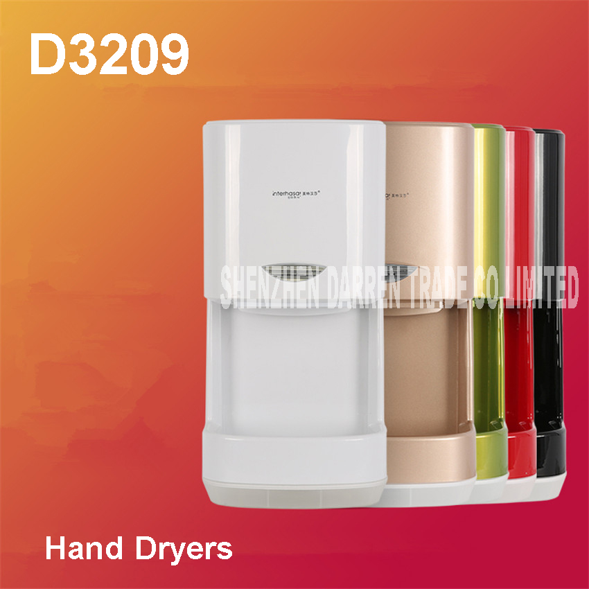 все цены на 1100W D3209 hand-drying device fully-automatic sensor hand dryer Hot wind&cold wind available automatic hand dryer ABS Shell онлайн