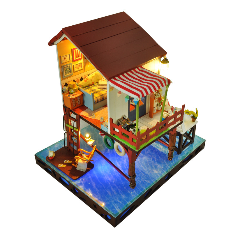 New Doll House DIY Miniature Dollhouse Model Building Kits Wooden Furnitures Dolls Houses Toys for Children Christmas Gift a035 miniature doll house model building kits wooden furniture toys diy dollhouse gift for children new zealand queentown