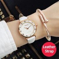 Ladies Fashion Leather Womens Watches Brand Top Quartz Watch Women Dress Bracelet Watch Casual Women S